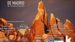 Programa VII Jornadas Kutxabank de Montaña y Aventura de Madrid que organiza Ramón Portilla