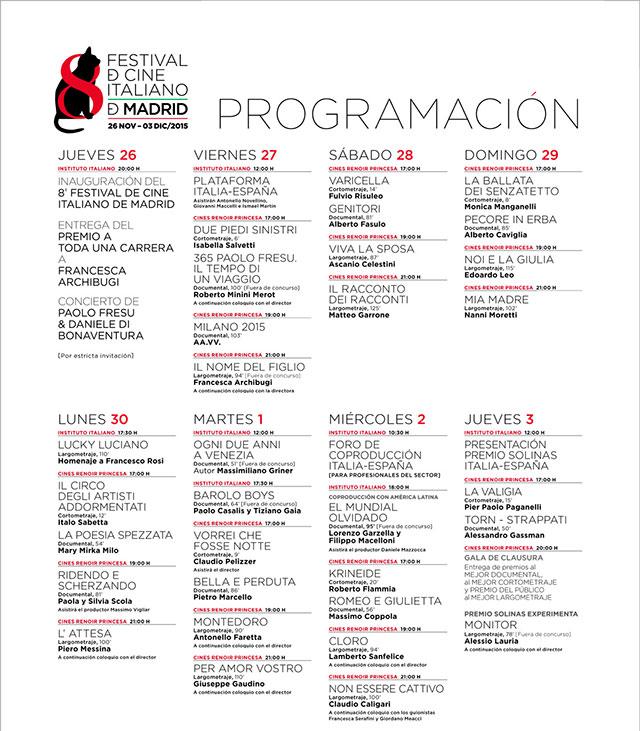 Festival de Cine Italiano en Madrid