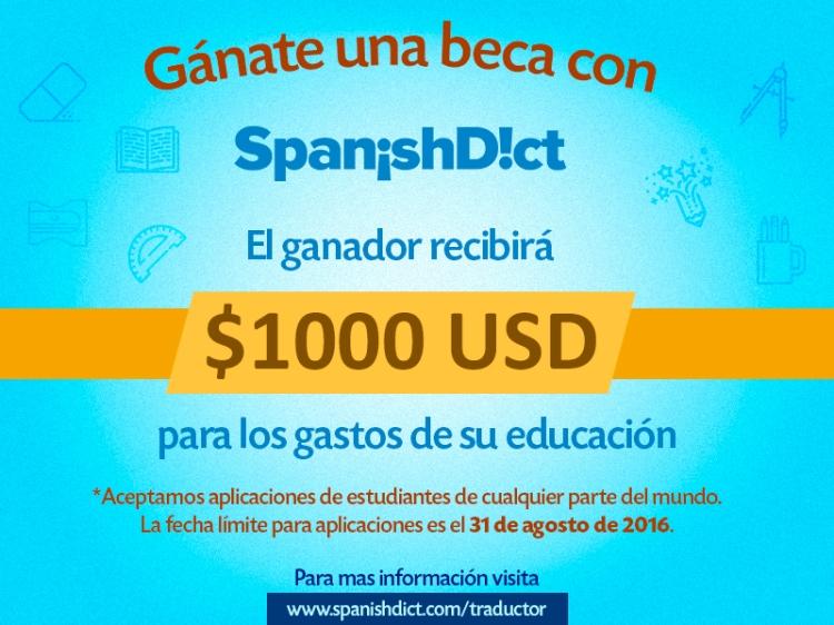 Beca #Traductor de SpanishDict